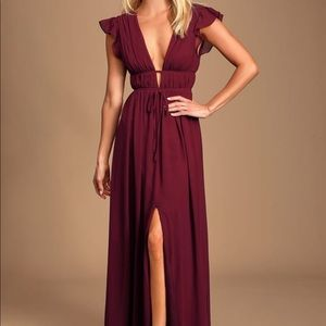 Formal Burgundy Maxi Dress